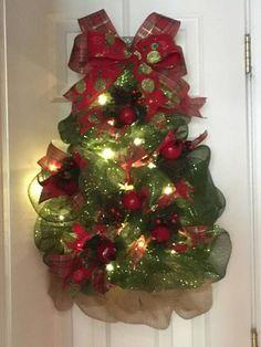 Árbol de Navidad guirnalda Malla de Deco encendido árbol de
