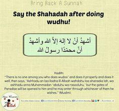 Simple yet rewarding!  #shahadah #dua #wudoo #ablution #rewards #great #sunnah #revive #hadeeth #Hadith #learnislam