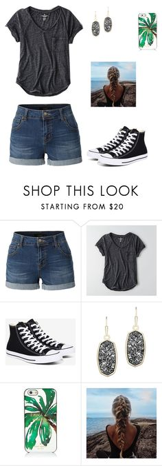 Untitled #80 by gabriellaallen on Polyvore featuring American Eagle Outfitters, LE3NO, Converse, Kendra Scott and Kate Spade