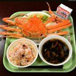 School lunch, Tottori 1 cup crab specialty to one student