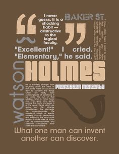 Let's get Sherlocked! | Sherlock Holmes Print | by Tanya Martin @Etsy