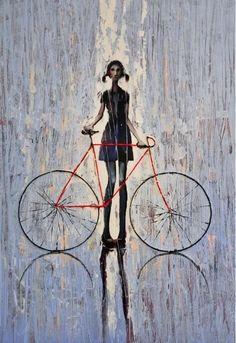 Bicycle Fashion in the Rain
