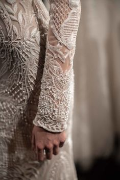 A subdued collection of a newfound bohemian lightness and refinement for the designer Classic Wedding Gowns, Rustic Wedding Dresses, Black Tie Wedding, Dream Wedding Dresses, Naeem Khan Bridal, Bridesmaid Saree, Wedding Dress Accessories, Bridal Gowns, Bridal Belts