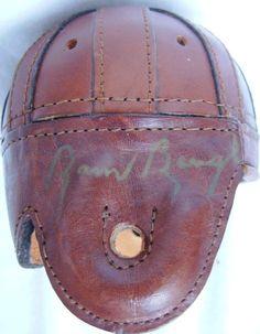 94f5c731d SAMMY BAUGH Signed Mini Leather Helmet Hall of Fame HOF NFL Washington  Redskins