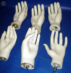 . lote de 6 manos blancas maniquies buen estado A1