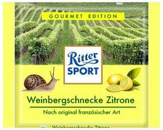 RITTER SPORT Fake Schokolade Weinbergschnecke Zitrone