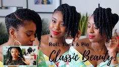 Simple Wash Day Style For Natural Hair | Roll, Tuck' N' Pin Updo [Video] - https://blackhairinformation.com/video-gallery/simple-wash-day-style-natural-hair-roll-tuck-n-pin-updo-video/
