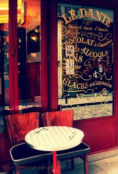 exterior of le rallye dante, paris, france
