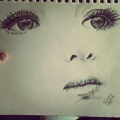 Kid sad face :P #art #drawing #kid #baby #beauty #real #mine #sketch #sad #face #eyes #lips #pencil #charcoal