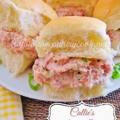 The Country Cook: Callie's Ham Salad. Yummy potted ham spread for crackers or sandwiches! Ham Salad Recipes, Pork Recipes, Cooking Recipes, Amish Recipes, Dutch Recipes, Recipies, A Food, Food And Drink, Leftover Ham