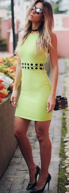 Yellow Little Dress I decor & Salto Alto #yellow