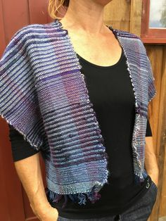 Hand Woven Vest by SilverCircleWeaving on Etsy
