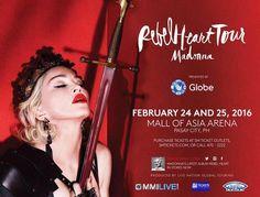 Madonna - Rebel Heart Tour - Pasay City - Philippines 2016 - Mini Print