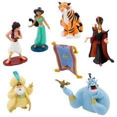 (Scary Games For Kids)Disney Aladdin Figurine Play Set - 7 Pc.