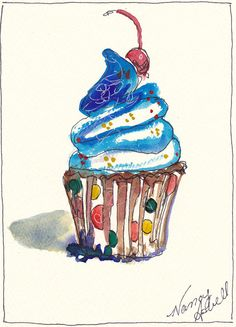 Polka Dot Cupcake by Michele Hollister - for Nancy Asbell Fine Art Prints, Framed Prints, Canvas Prints, Cupcake Painting, Polka Dot Cupcakes, Cupcake Mix, Art Pages, Mixed Media Art, Fine Art America