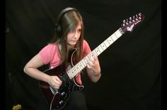 """This 14-year-old guitar prodigy named Tina is seen here doing an incredible tribute to Antonio Vivaldi's """"Summer"""". Although it was originally composed as a classical piece, this version is pure rock n' roll."""