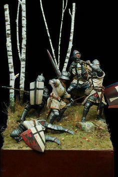 Late Middle Ages, Military Modelling, Medieval Knight, Military Diorama, Reference Images, Warfare, Romans, Vignettes, Celtic