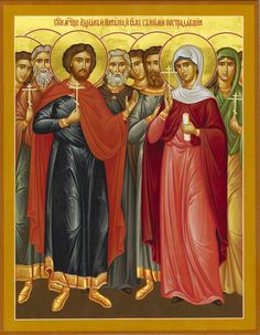 St. Adrian and St. Natalia and those with them by Priest Paul Akmolin