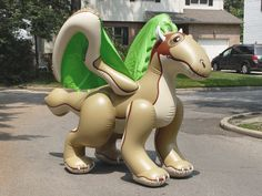 Inflatable Dragon 9 Feet Long Blow Up Toy Collectible
