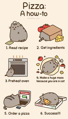 Pusheen makes dinner