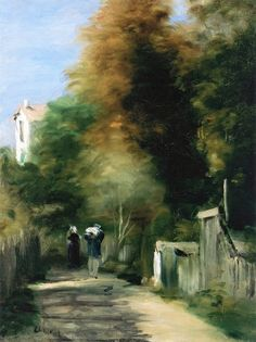 Pierre Auguste Renoir The Footpath Oil Painting Reproductions for sale Pierre Auguste Renoir, August Renoir, Renoir Paintings, Impressionist Paintings, Oil Painting Reproductions, French Artists, Beautiful Artwork, Beautiful Things, Oeuvre D'art