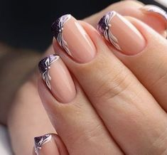 LATEST FRENCH NAIL ART DESIGNS IDEAS 2019 : The French nail styles that were sorted out a few days ago were more formal, and the overall design is tidy and elegant. Today's article collects more lively styles, suitable for travel, vacation, and wedding French Manicure Nails, French Tip Nails, Manicures, Manicure Tips, French Nail Art, French Nail Designs, Nail Art Designs, Beautiful Nail Art, Gorgeous Nails