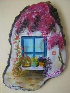 Ağaç Kütüğü Üzerinde Resim - sanatevim - Blogcu.com