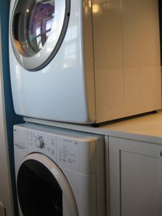 clever way to stack washer and dryer