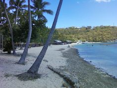 take the water taxi to water island and visit honeymoon beach