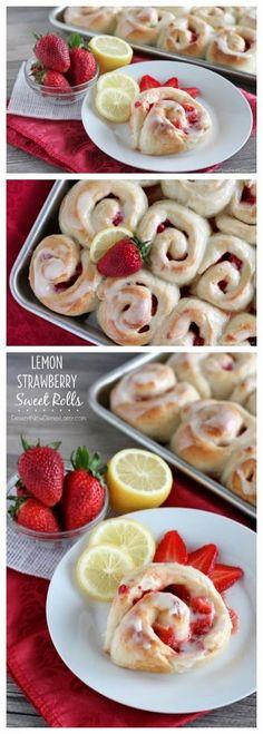 Lemon Strawberry Sweet Rolls