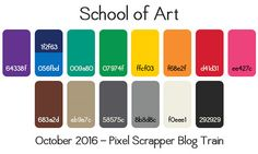 Oct 2016 Blog Train - Working | Pixel Scrapper digital scrapbooking forums