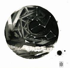 Iakovos Ouranos, Interstellar II, mixed media on paper, 2014   #art #drawing #pencil #ink #paper #iakovosouranos #iakovos #ouranos