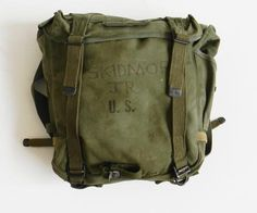 Vintage WWII US Military Backpack by alchemievintage on Etsy