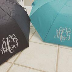 Monogrammed Umbrella  Heat Transfer Vinyl by GraceKinleyDesigns