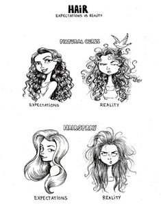 FML --> Successfully Styling Your Hair: Expectations Vs. Reality