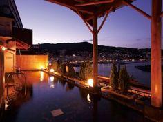heaven. 熱海温泉、露天風呂 (outdoor bath, Atami onsen, Japan)