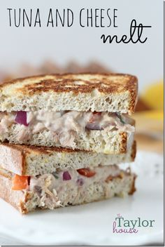Tuna Melt, Tuna and Cheese Melt - LUNCH!!