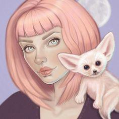 Fennec Fox Art Print / wiccan decor pastel goth decor image 2 Peacock Wall Art, Pastel Goth Art, Wiccan Decor, Cute Kawaii Animals, Fennec Fox, Digital Art Girl, Fox Art, Lowbrow Art, Creepy Cute