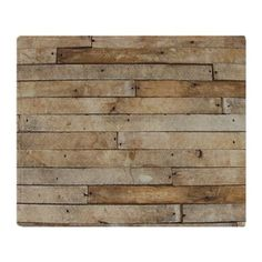 Wood Wall Throw Blan