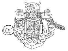 The Inside Of Dalek From Doctor Who Coloring Page For Adults