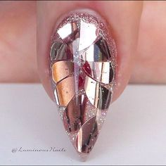 Rose Gold Feature Nail ... With Indigo Cover no5, @gellyfitaustralia JP03, Rose Gold Confetti hearts  #indigo #GellyFitaustralia #rosegold #confetti #glitter #luminous #shiny #glossy #goldcoast #queensland #australia #byteena #sparkle #acrylicnails #gelnails