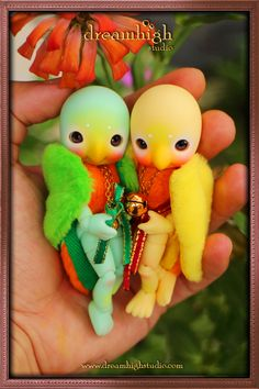 Koi and Ai, the lovebirds: Dreaminghigh Studio - Unique Handmade Doll Arts and Accesories by Donny Harijanto