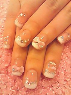 bows | See more at http://www.nailsss.com/colorful-nail-designs/2/