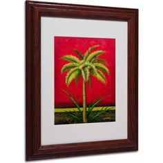 Trademark Fine Art Tropical Palm I Canvas Art by Victor Giton, Wood Frame, Size: 11 x 14, Multicolor