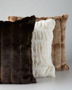 Faux Fur Accent Pillows at Horchow.    75-98