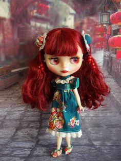 デヴィデラクール★和風ワンピ(ヘアアレンジ3種♪) - ★Lovely Blythe★ Valley Of The Dolls, Little Doll, Face Hair, Blythe Dolls, Beautiful Dolls, Fashion Dolls, Red Hair, Art Dolls, Maya