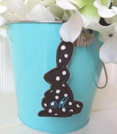 Personalized Chocolate Bunny Easter Basket by simplysweetdesigns4u, $5.00