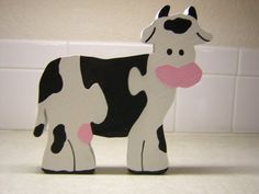 Free Puzzle Patterns - Bessie the Old Milk Cow Wood Puzzle