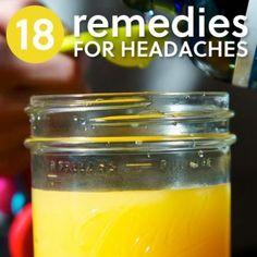 18 Natural Headache Remedies