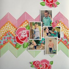 #papercraft #Scrapbook #layout On the Hunt by Tessa Buys, via Flickr